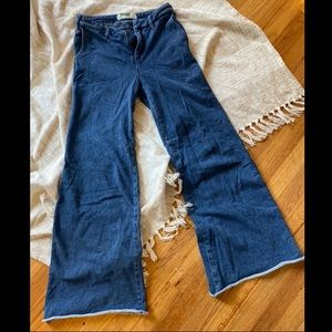 Cotton Flare Anthropologie Jeans